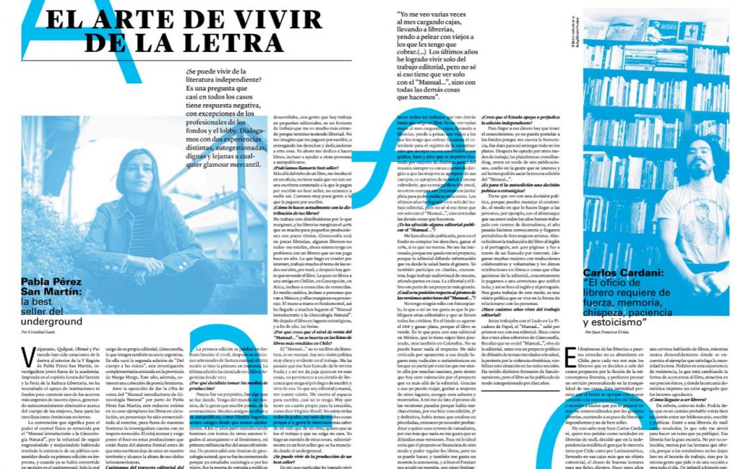"""Reportaje """"El arte de vivir de la letra"""" en Grado Cero"""