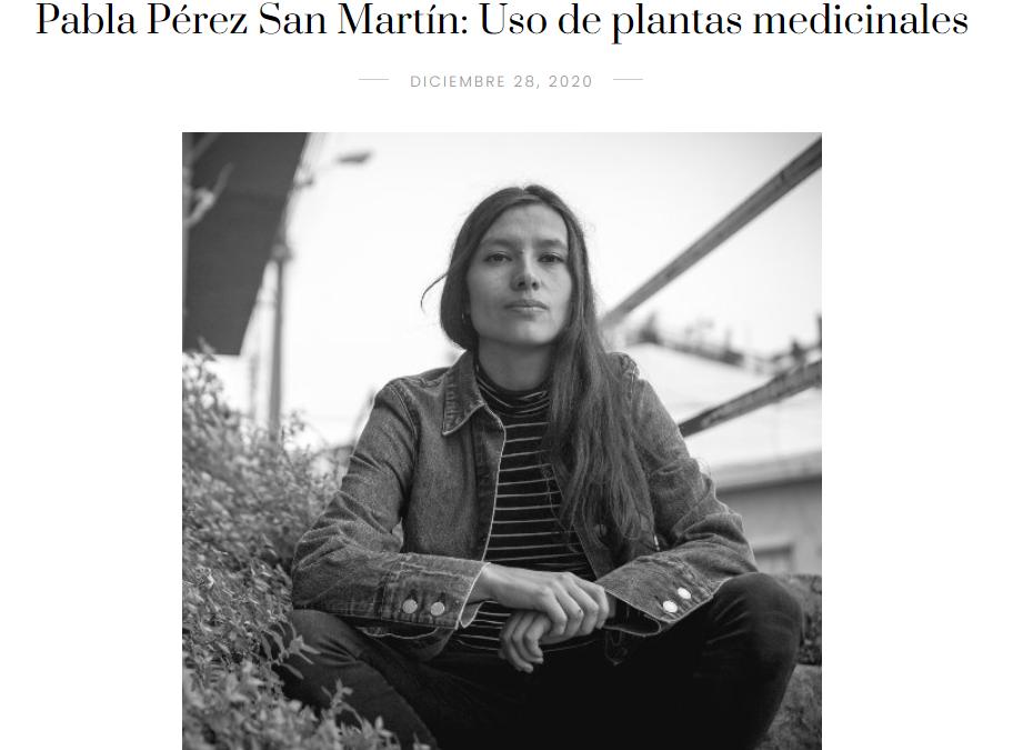 Perfil en Plataforma Crítica sobre Pabla Pérez San Martín y el uso de plantas medicinales